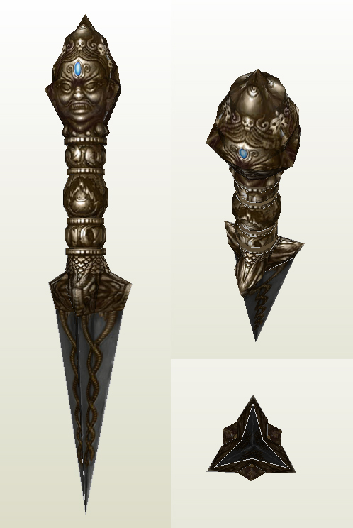 Uncharted II Phurba Dagger WIP by billybob884
