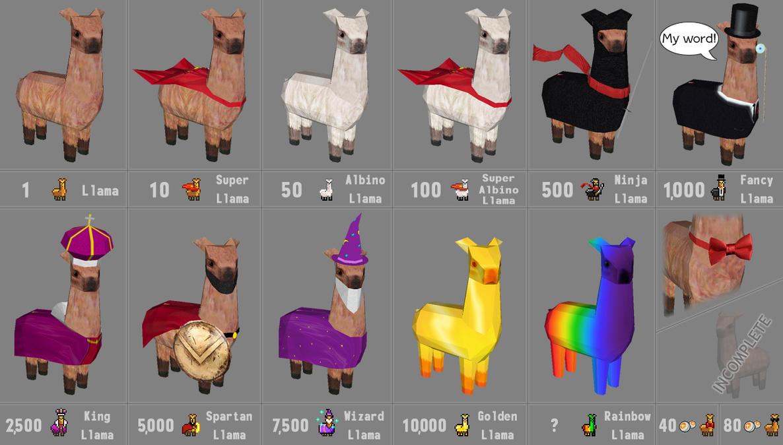dA Llama Icons W.I.P. by billybob884