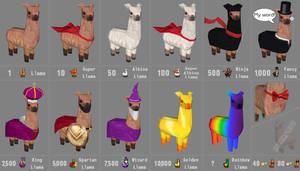 dA Llama Icons W.I.P.