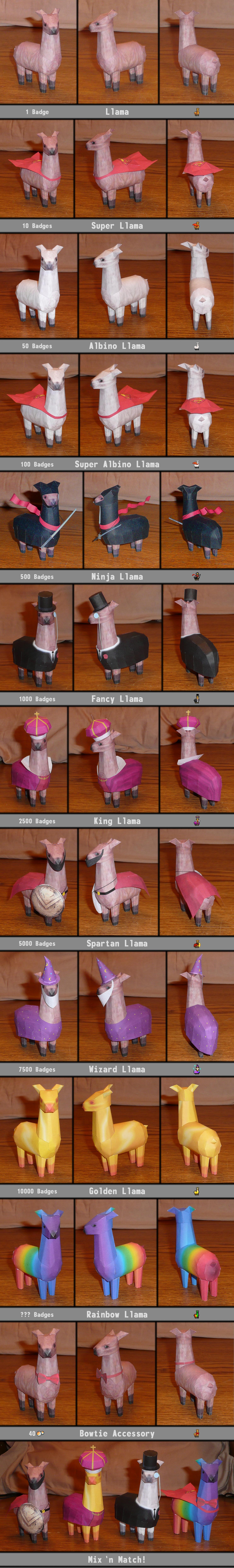 dA Llamas Assembled by billybob884