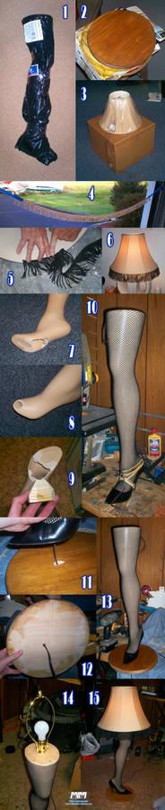 Leg Lamp In-Progress Shots