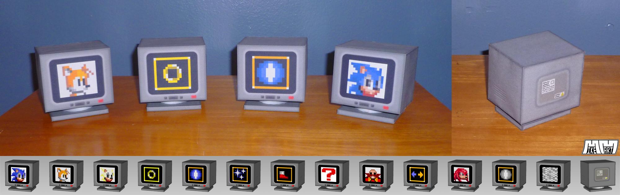 Sonic 2 Item Boxes Assembled