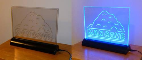 Man Cave LED Edge-Lit Sign