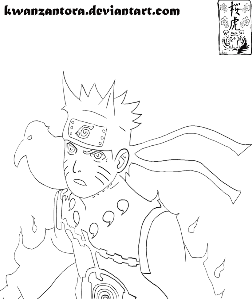 SPOILER Naruto lineart 550 by kwanzantora