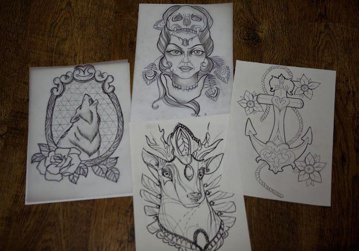 oldschool designs by evilmoon tattoo on deviantart. Black Bedroom Furniture Sets. Home Design Ideas