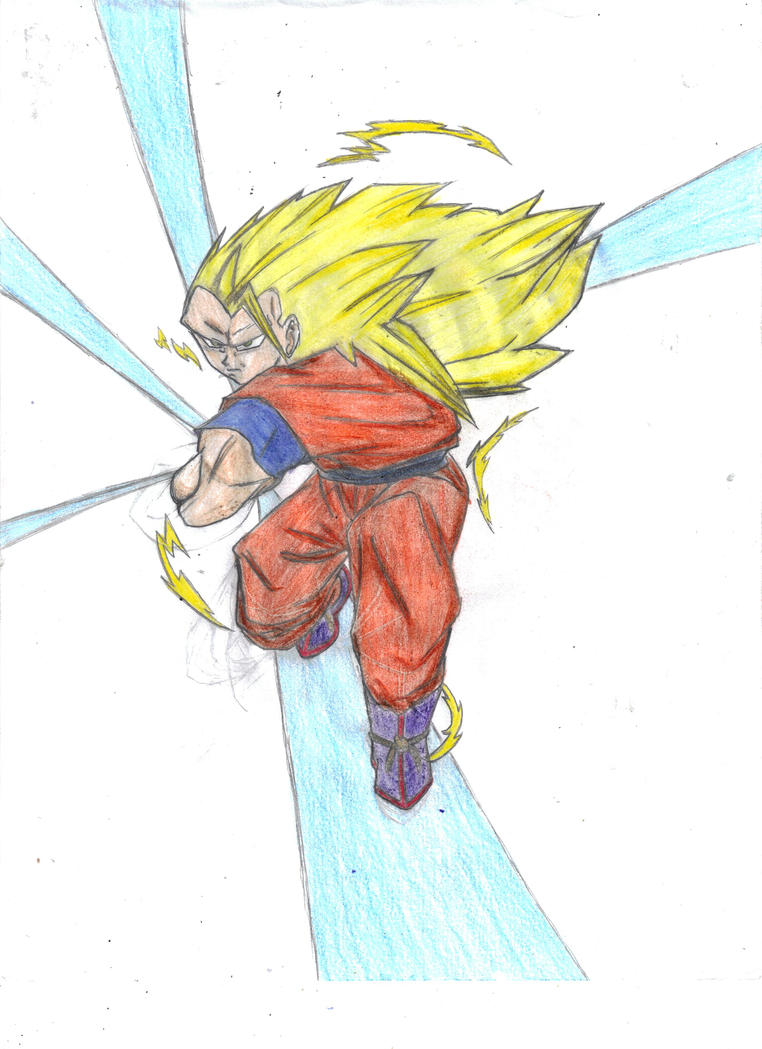 Super Saiyan 3 Goku-Kamehameha by Dreballin3x on DeviantArt