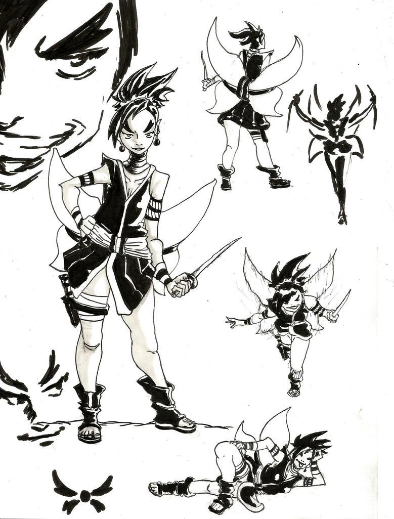 The Butterfly Ninja by Dreballin3x