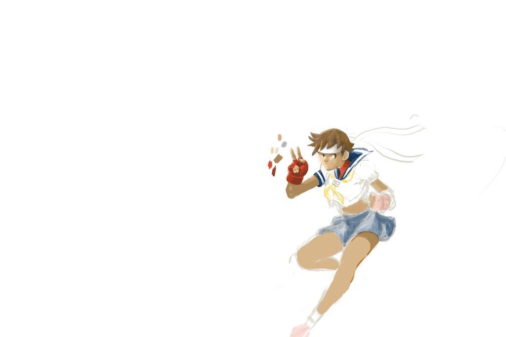 ! Sakura - WIP 2 by Dreballin3x