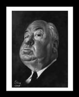 Alfred Hitchcock by salemallangawiart