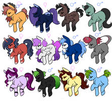 ADOPTABLES (2/12 OPEN) POINTS or PAYPAL by dejja-vu122