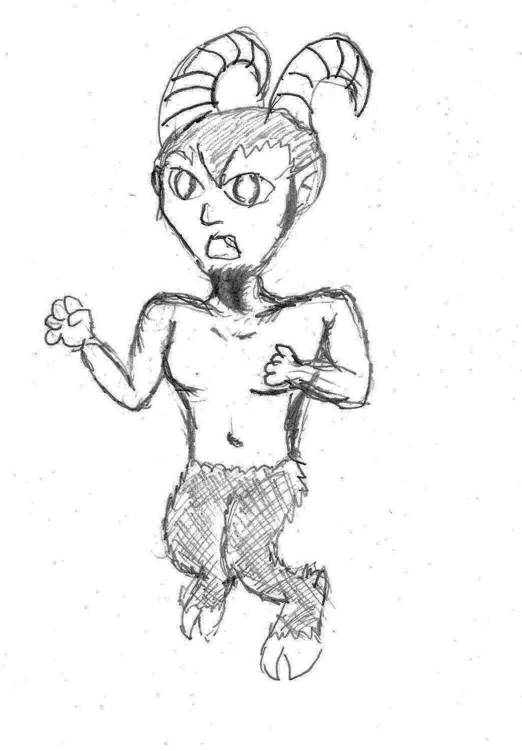 Monsterboy Challenge Day 3: Satyr by Buddhadragon