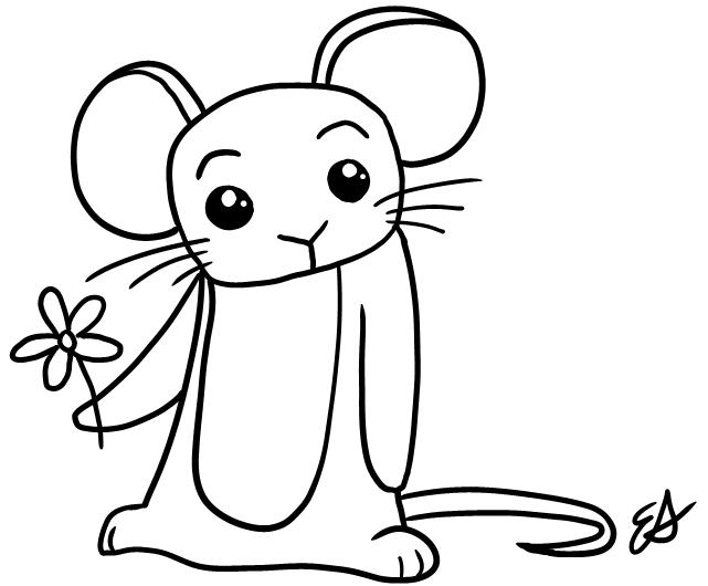 Line Art Mouse : Mouse lineart by ellyphant on deviantart