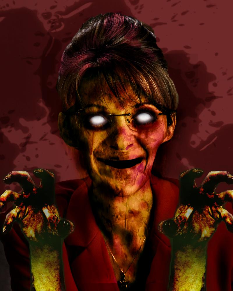 Sarah Palin Zombie by steve0292