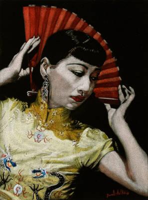 Anna May Wong Black Velvet Painting