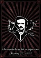 Edgar Allan Poe Tribute by iskallvinter