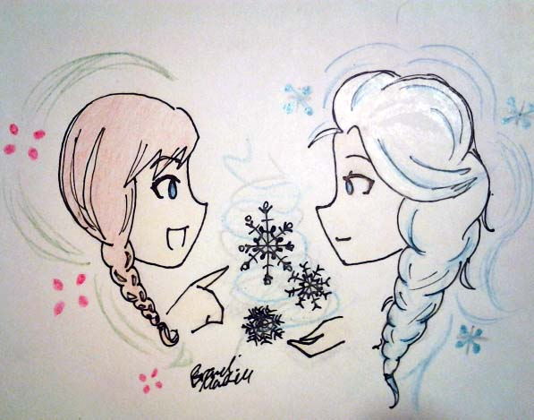 Anna and Elsa by brandiapril09
