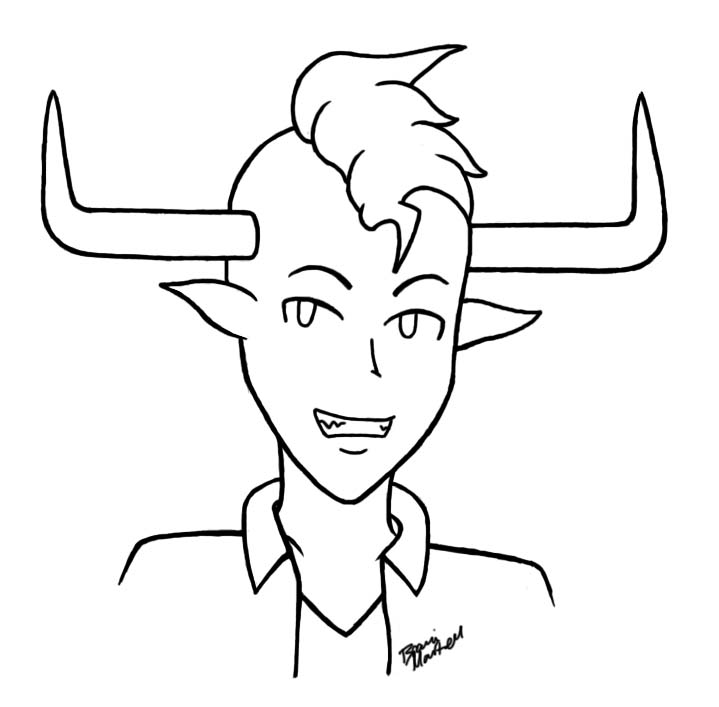 Tavros Lineart by brandiapril09