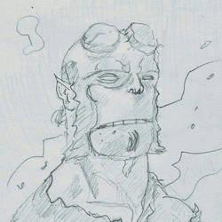 Hellboy Study  by njgking75