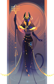Bastet ~ Egyptian Gods by Yliade