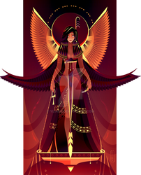 Maat ~ Egyptian Gods by Yliade