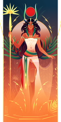 Hathor ~ Egyptian Gods by Yliade