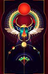 Khepri ~ Egyptian Gods by Yliade