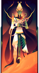 Osiris ~ Egyptian Gods by Yliade