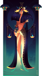 Nephthys ~ Egyptian Gods by Yliade