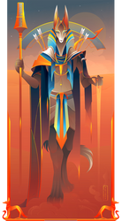 Wepwawet ~ Egyptian Gods by Yliade