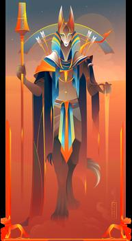 Wepwawet ~ Egyptian Gods by Yliade