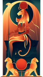 Tefnut ~ Egyptian Gods by Yliade