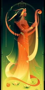 Seshat ~ Egyptian Gods by Yliade