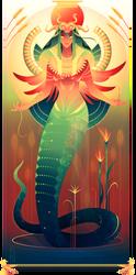 Renenutet ~ Egyptian Gods by Yliade
