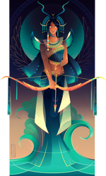Satet ~ Egyptian Gods by Yliade
