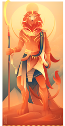 Maahes ~ Egyptian Gods by Yliade