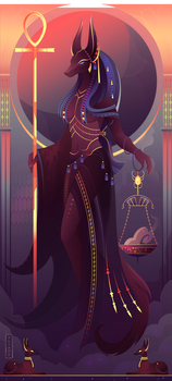 Anput ~ Egyptian Gods by Yliade
