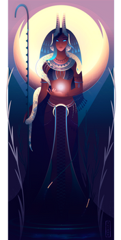 Naunet ~ Egyptian Gods by Yliade