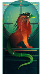 Ammit ~ Egyptian Gods by Yliade