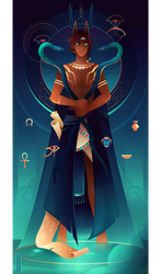Heka ~ Egyptian Gods by Yliade