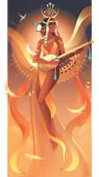 Meret ~ Egyptian Gods by Yliade