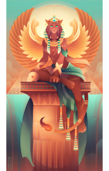 Sphinx ~ Egyptian Gods by Yliade
