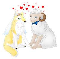 Ram and Wolf Wedding