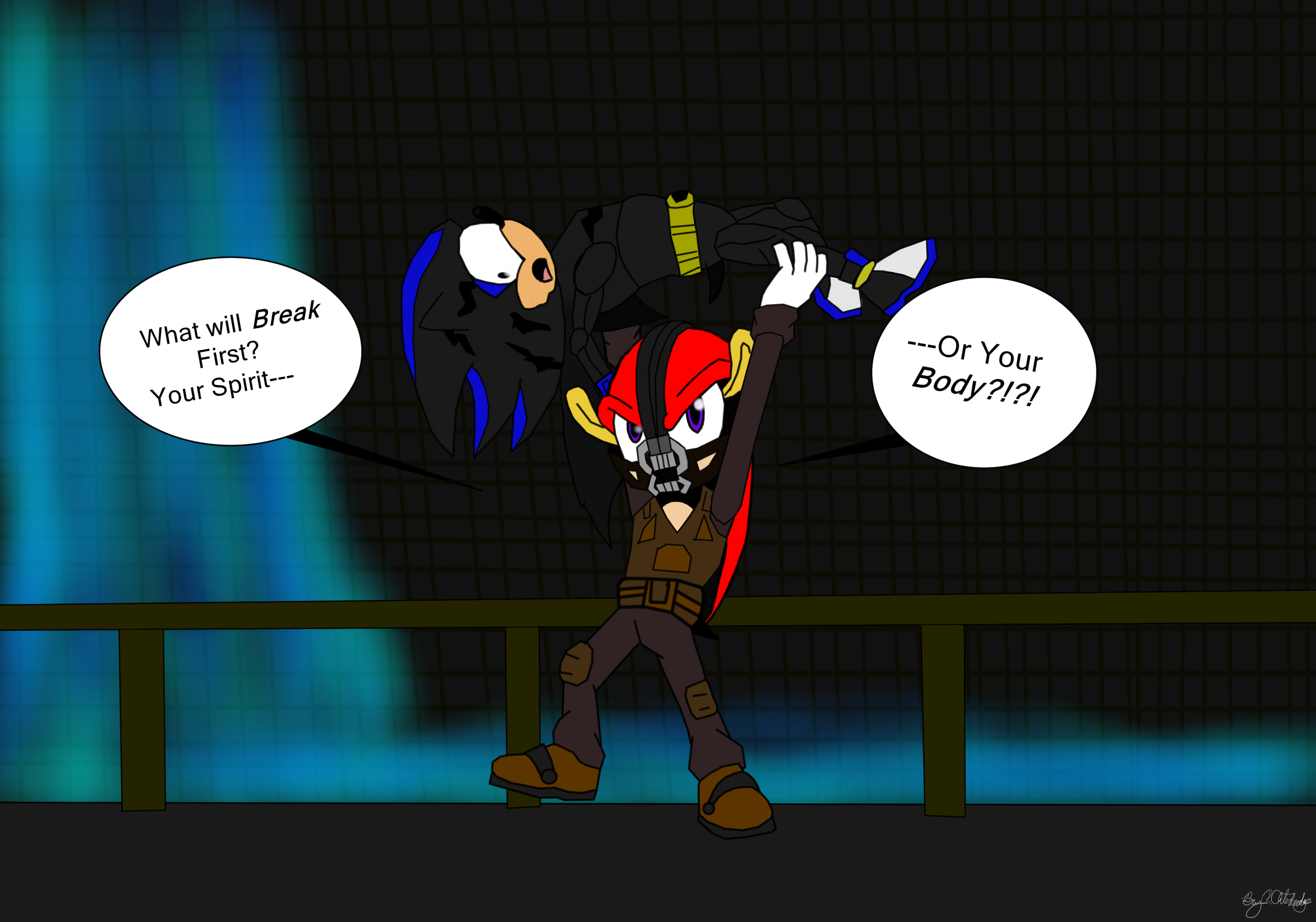Sonic: The Dark Knight Rises Bane by SecondxToxNone96 on ...