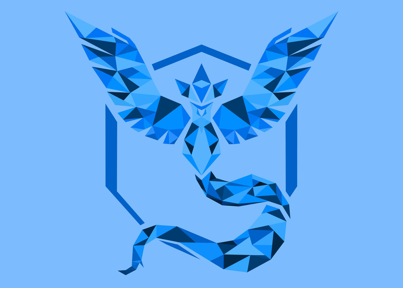 Low Poly Team Mystic Wallpaper By Yellowishguy On Deviantart