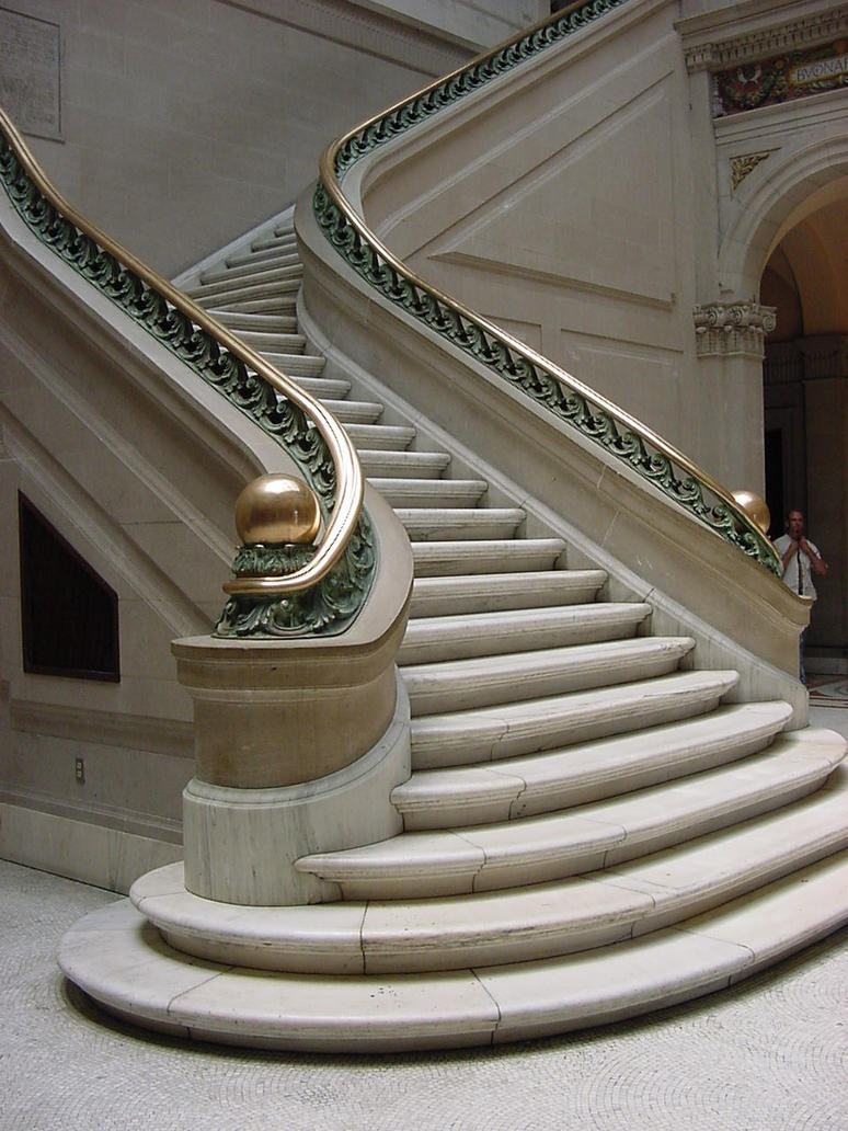 Grand staircase by lillcreeper on deviantart for Pre made spiral staircase