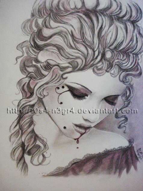 Dark Lady - Victoria Frances by AinhoaOrtez