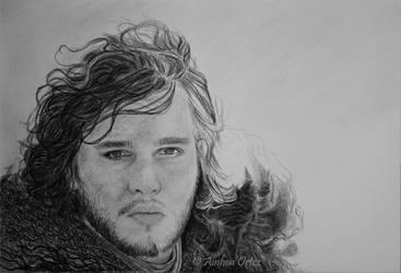 Jon Snow WIP 3 by AinhoaOrtez