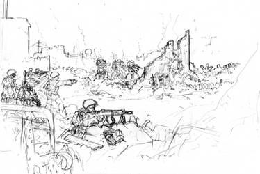 Cydanian mechanized infantry sketch