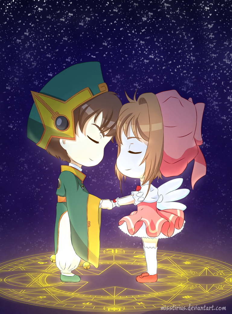 Syaoran and Sakura by misstirius