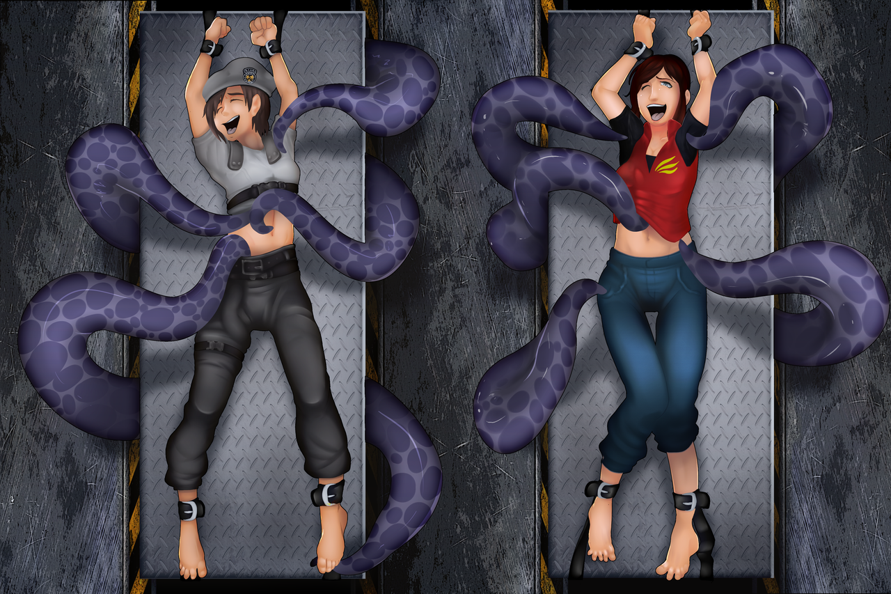 Tentacle Tickle Chamber [COMMISSION] by MeteorREB0RN on